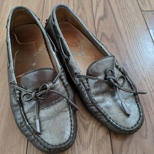 TOD'S - metallic loafer shoes